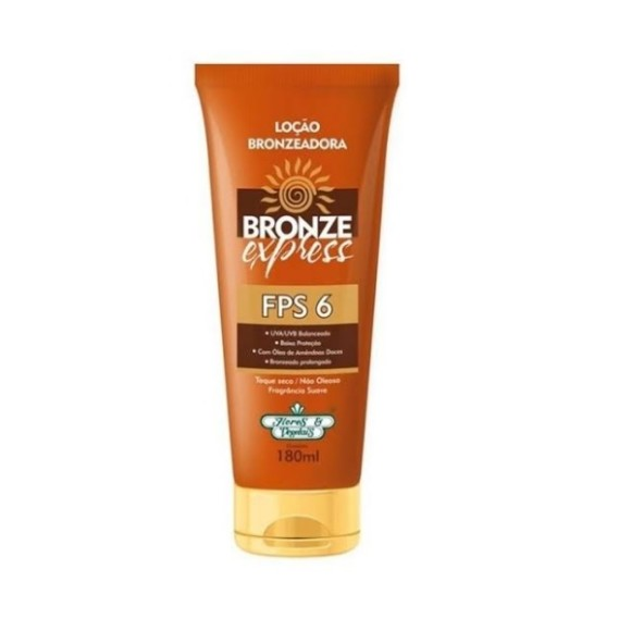 Bronzeador Express FPS 6 Flores e Vegetais 180ml