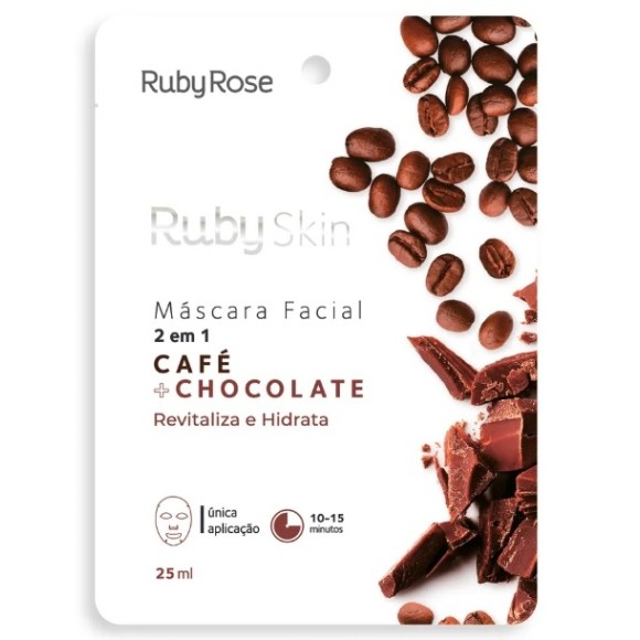 Máscara Facial Café + Chocolate Ruby Rose 25ml